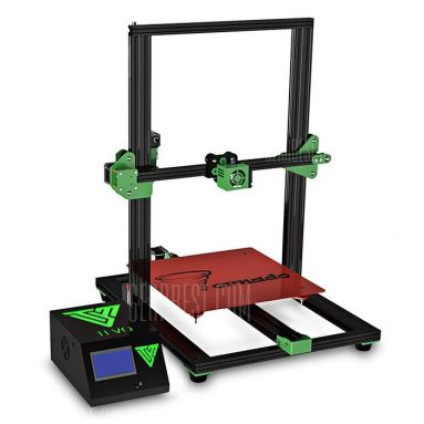 $309 with coupon for TEVO Tornado Most Assembled Full Aluminum Frame 3D Printer US PLUG + 110V Black Green from GearBest