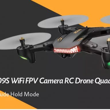 $53 with coupon for TIANQU VISUO XS809S WiFi FPV Camera RC Drone Quadcopter – BLACK 720P+WIDE ANGLE + 2 BATTERIES EU warehouse from GearBest