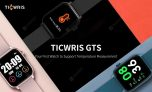 22 € z kuponem na TICWRIS GTS Inteligentny zegarek z wykrywaniem temperatury ciała w czasie rzeczywistym Monitor tętna 7 trybów sportowych Sportowy smartwatch z Bluetooth 4.0 - czarny od GEARBEST