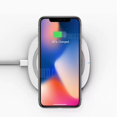 $18 with coupon for TOCHIC 10W Qi Fast Wireless Charger for iPhone X / 8 / 8 Plus / Samsung / LG / Xiaomi – WHITE from GearBest