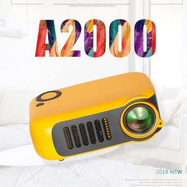 €33 with coupon for TRANSJEE A2000 Projector 800 Lumens 1000:1 Contrast Ratio 320*240P Native Resolution Supported 1080P 23 Languages Home Theater Video Projector from BANGGOOD