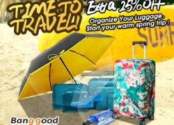 25% OFF Coupon for Traveling Accessories from BANGGOOD TECHNOLOGY CO., LIMITED