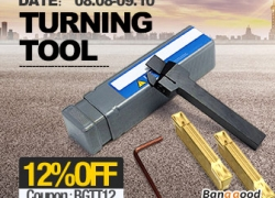 12% OFF for Turning Tool Promotion from BANGGOOD TECHNOLOGY CO., LIMITED