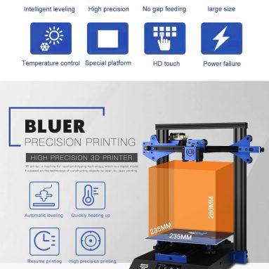 179 € med kupong för TWO TREES® BLUER 3D-skrivare EU CZ WAREHOUSE från BANGGOOD