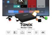Tanix के लिए कूपन के साथ 22 TX9S स्मार्ट 4K TV बॉक्स Amlogic S912 ऑक्टा कोर ARM माली-T820MPNUMX 3GB RAM + 2GB ROM Android 8 9.0GHz WiFi सहायता HDR2.4 H.NNXX H10 H265S