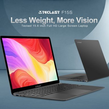 € 270 com cupom para Teclast F15S Laptop 15.6 polegadas Intel Celeron N3350 8 GB RAM 128 GB eMMC 2.5D Narrow Bezel Alumínio Notebook com teclado numérico da BANGGOOD