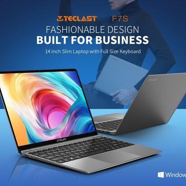 € 222 com cupom para Teclast F7S 14.1 polegadas Intel N3350 8GB RAM 128GB eMMC 38Wh Bateria 7mm de espessura 8mm Notebook com moldura estreita de BANGGOOD