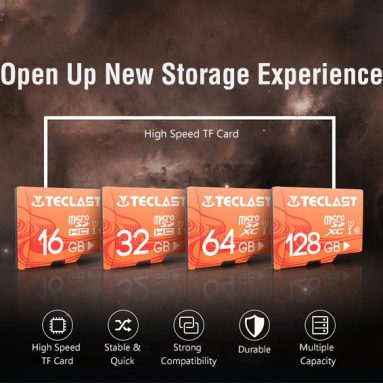 $15 with coupon for Teclast High Speed Waterproof Micro SD / TF Card UHS – 1 U1 – Light Salmon 128GB from GEARBEST