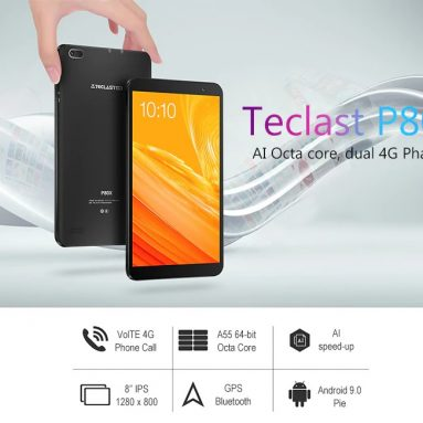 €70 with coupon for Teclast P80X SC9863A Octa Core 2G RAM 16G ROM 8″ Android 9.0 Tablet from BANGGOOD