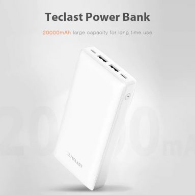 $22 with coupon for Teclast T200K – W 20000mAh Mobile Power from GEARBEST