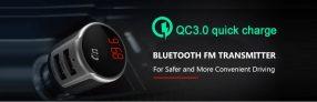 $ 9 עם קופון למטען לרכב משדר FM 33 Bluetooth Tecney BC4.2 Bluetooth מבית GEARBEST