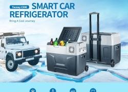 € 230 với phiếu giảm giá cho tủ lạnh / tủ lạnh tủ lạnh thông minh Tecney CX40 40L với bánh xe Spinner - Xám EU cắm từ GEARBEST