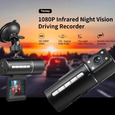 $ 18 với phiếu giảm giá cho Máy ghi âm tầm nhìn ban đêm hồng ngoại Tecney N2 1080P từ GEARBEST