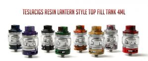 $17 with coupon for Teslacigs Resin Lantern Style Top Fill Tank 4ml – ORANGE from GearBest