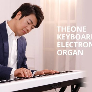 €227 with coupon for TheONE Keyboard Air 61 Key Ultra-thin and Portable Electronic Organ from Xiaomi youpin – Black from GEARBEST