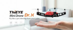 $54 with coupon for ThiEYE Dr.X WiFi FPV RC Drone 1080P Camera Optical Flow Altitude Hold – RED STANDARD VERSION from GearBest