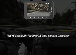 $65 with coupon for ThiEYE Safeel 3R 1080P + VGA Dual Camera Dash Cam – BLACK WITH BUILT-IN BATTERY from GearBest