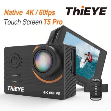 € 73 s kuponom za ThiEYE T5 Pro 4K Ultra HD video prijenos uživo prijenos uživo WiFi stabilizator EIS daljinsko upravljanje vodootpornom sportskom akcijskom kamerom od BANGGOOD