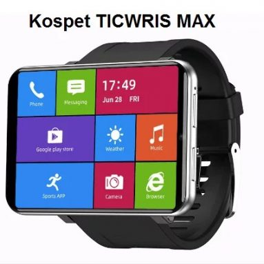 126 € με κουπόνι για Ticwris Max 4G Smart Watch Phone Android 7.1 MTK6739 Quad Core 3GB / 32GB Smartwatch Heart Rate Pedometer IP67 Waterproof - Μαύρο από GEARBEST