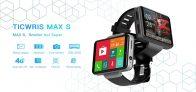 149 долларов с купоном для Ticwris Max S 4G Smart Watch Phone Android 7.1 MTK6739 Quad Core 3GB / 32GB Smartwatch Шагомер сердечного ритма IP67 Водонепроницаемый - черный от TOMTOP