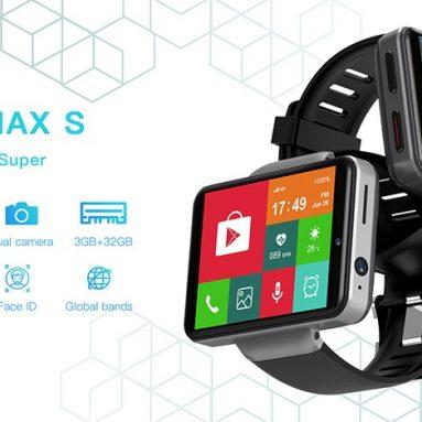 $ 149 עם קופון עבור Ticwris Max S 4G שעון חכם טלפון אנדרואיד 7.1 MTK6739 Quad Core 3GB / 32GB Smartwatch קצב לב מד צעדים IP67 עמיד למים - שחור מבית TOMTOP