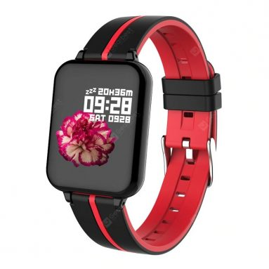 $16 with coupon for Tourya B57 Smart Watch Waterproof Sports Band Android IOS Smart Bracelet For Women Men – Red from GEARBEST