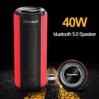 € 55 với phiếu giảm giá cho Tronsmart Element T6 Plus Portable 40W bluetooth 5.0 Loa Tri-Bass IPX6 Loa âm thanh nổi TWS chống nước TWS từ BANGGOOD