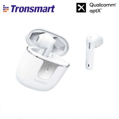 € 26 med kupong for Tronsmart Onyx Ace Bluetooth 5.0 TWS øretelefoner 4 mikrofoner Qualcomm QCC3020 Uavhengig bruk aptX / AAC / SBC 24H Playtime Siri Google Assistant IPX5 EU ITALIA WAREHOUSE from GEEKBUYING