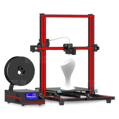 $319 with coupon for Tronxy X3S 330 x 330 x 420mm Fast Installation 3D Printer  –  EU  RED WITH BLACK from GearBest