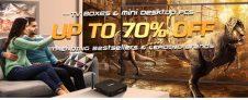 UP na 70% OFF na televizních přijímačích a stolních počítačích Mini od GearBestu