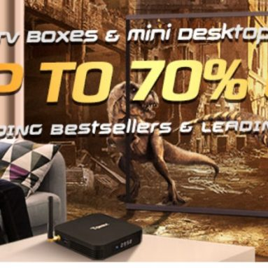 UP to 70% OFF on Tv Boxes and Mini Desktop PCs from GearBest