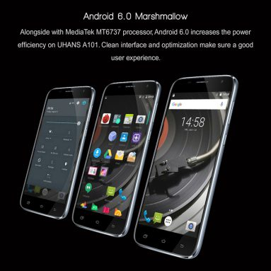 Only $79.99 Sale for UHANS A101 5.0 inch Android 6.0 4G LTE Smartphone 1GB/8GB from Focalprice