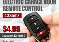 433mhz Electric Garage Door Remote Control from HongKong BangGood network Ltd.