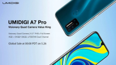 € 85 na may kupon para sa UMIDIGI A7 Pro Global Bands 6.3 pulgada na FHD + Android 10 4150mAh 16MP AI Quad Camera 3 Card-puwang 4GB 64GB Helio P23 4G Smartphone - Blue EU Bersyon mula sa BANGGOOD