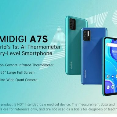 €67 with coupon for UMIDIGI A7S Global Bands 4150mAh Android 10 Go 6.53 inch HD+ 3 Card Slots 13MP AI Quad Camera 2GB 32GB MT6737 4G Smartphone from BANGGOOD