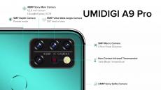 118 € avec coupon pour UMIDIGI A9 Pro Global Bands 6.3 pouces FHD + Thermomètre infrarouge 6 Go 128 Go Helio P60 Android 10 4150mAh 48MP AI Matrix Quad Camera 3 emplacements pour cartes Smartphone 4G de BANGGOOD