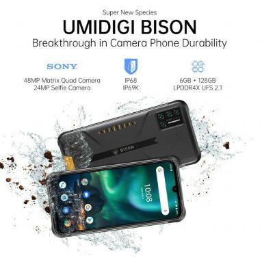 159 € με κουπόνι για UMIDIGI BISON Global Bands IP68 & IP69K Αδιάβροχο NFC Android 11 5000mAh 8 GB 128 GB Helio P60 6.3 ιντσών FHD + 48MP Τετραπλή πίσω κάμερα 24MP μπροστινή κάμερα 4G Smartphone - Cyber Yellow EU Έκδοση από BANGGOOD