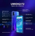 € 180 con cupón para UMIDIGI F2 Bandas globales 6.53 pulgadas FHD + Android 10 NFC 5150mAh 48MP Cámaras traseras cuádruples 6GB 128GB Helio P70 Octa Core 4G Smartphone - Versión Midnight Black EU de BANGGOOD
