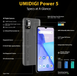 €147 with coupon for UMIDIGI Power 5 Global Version 6.53 inch HD+ Android 11 6150mAh 16MP AI Triple Camera 4GB 128GB Helio G25 4G Smartphone from BANGGOOD