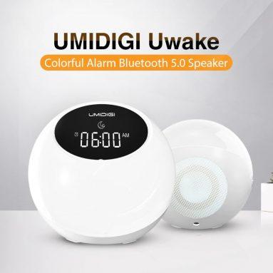€ 20 s kupónem pro UMIDIGI Uwake Bezdrátový bluetooth reproduktor Přenosný Barevný LED reproduktor Stereo hudební prostorový budík Noční světlo od BANGGOOD