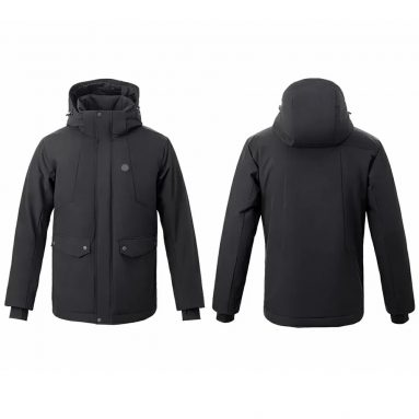 €70 with coupon for UREVO™ Man Electronic Intelligent Heating USB Hooded Heated Work Jacket Coats 4 Temperature Adjustable From Xiaomi Youpin from BANGGOOD