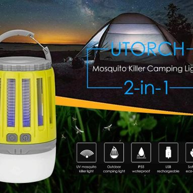 $13 with coupon for UTORCH 2-in-1 Mosquito Killer Camping Light – Yellow from GEARBEST