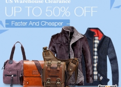 US Clothing and Bags Clearance, UP to 50% OFF. from HongKong BangGood network Ltd.