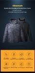 UleemarkIP67メンズウィンター充電式調節可能電気加熱ジャケットコートウォッシャブル防水防雨ソフトダウンジャケットのクーポン付き€64BANGGOODから