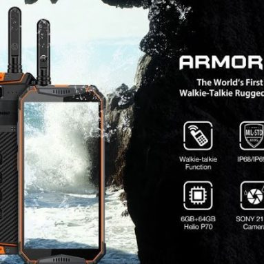 € 261 avec coupon pour Ulefone Armor 3WT 5.7 Inch Talkie-walkie NFC IP68K Etanche 69GB Imperméable 6GB 64mA 10300mAh Helio P70 Core 4G Smartphone - Orange EU Version de BANGGOOD