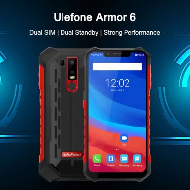 Ulefone Armor 268 6G에 대한 쿠폰이 포함 된 4 Phablet 6GB RAM 128GB ROM-RED EUROPEAN UNION GearBest