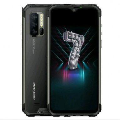 € Ulefone Armor 245 için kuponlu 7 IP68 IP69K Su Geçirmez 6.3 inç 8GB 128GB 48MP Üçlü Kamera NFC 5500mAh Kablosuz Şarj Helio P90 Octa Core 4G Akıllı Telefon - BANGGOOD'dan Siyah AB Sürümü