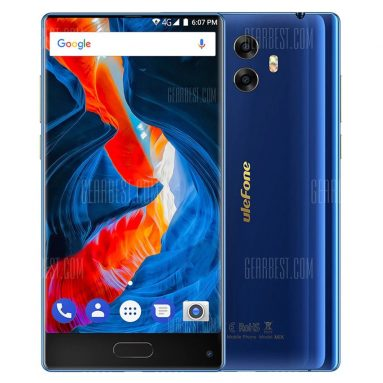 $125 with coupon for Ulefone Mix 4G Phablet  – BLUE from GearBest