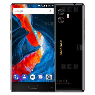 $131 with coupon for Ulefone Mix 4G Phablet  –  BLACK EU warehouse from GearBest