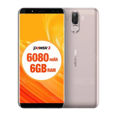 $198 with coupon for Ulefone Power 3 4G Phablet  –  GOLDEN from GearBest